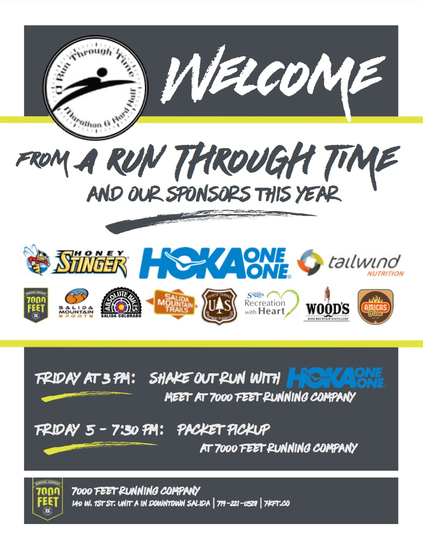 Welcome Run Through Time Racers!